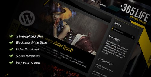 ThemeForest - 365Life v1.08 - WP Theme For Blog