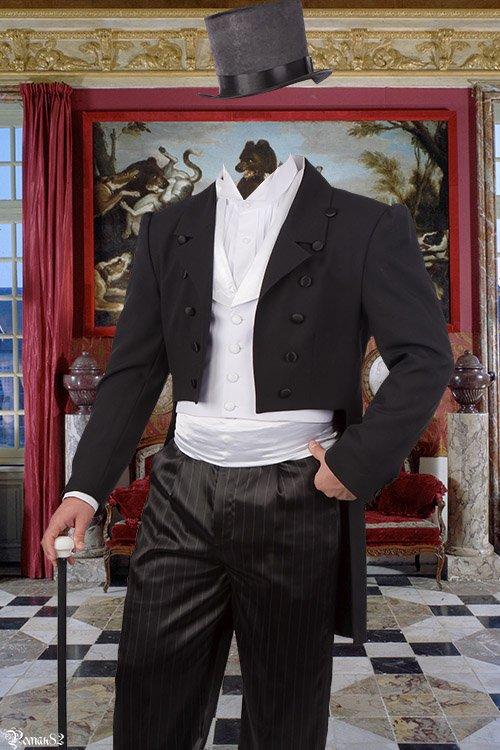 Шаблон для фотомонтажа - джентельмен
