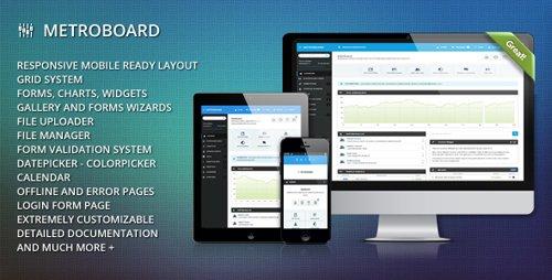 ThemeForest - MetroBoard - Premium Responsive Admin Theme