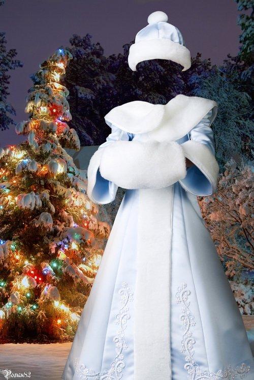 Шаблон для фотомонтажа - костюм снегурочки