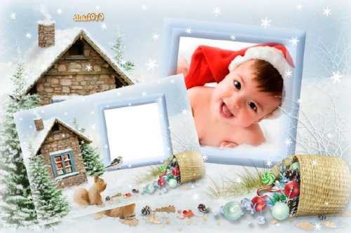 Рамка для фотошопа – Скоро новый год