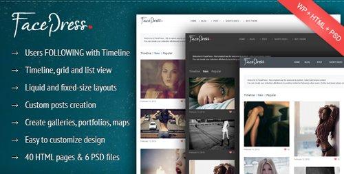 ThemeForest - FacePress v0.7 - Community Content Sharing Wordpress Theme