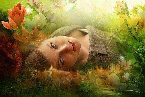 Рамочка для фотошопа - Осенняя тишина