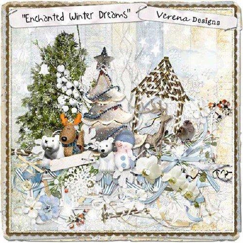 Зимний скрап-набор - Волшебные зимние грёзы