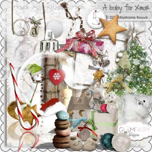 Яркий рождественский скрап-набор - Рождественский малыш
