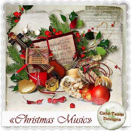 Яркий рождественский скрап-набор - Рождественская мелодия