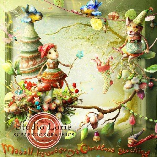 Рождественский скрап-набор - Рождественские подарки Майбелла