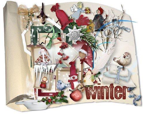 Зимний скрап-набор - Зима-зимушка