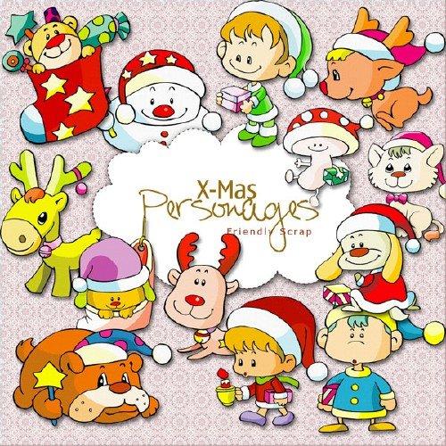 Рождественский скрап-набор - Рождественские персоны