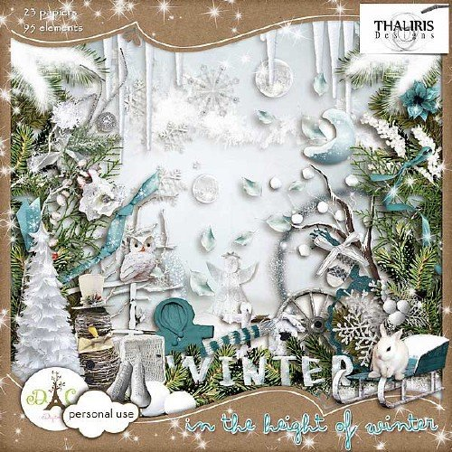 Зимний скрап-набор - На высотах зимы