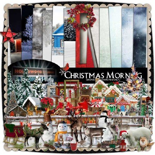 Рождественский скрап-набор - Рождественское утро