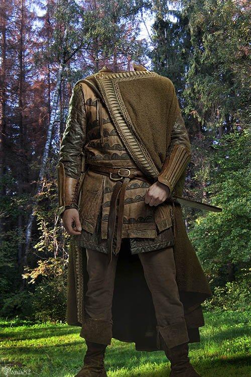 Шаблон для фотомонтажа - мужской старинный костюм
