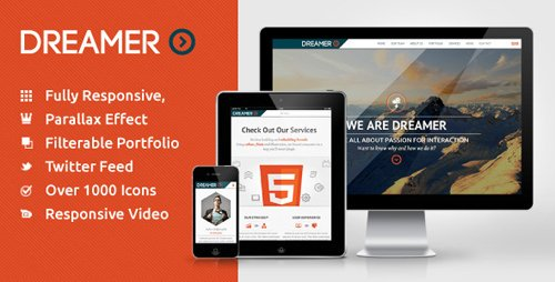 ThemeForest - Dreamer - Responsive One Page Parallax Template