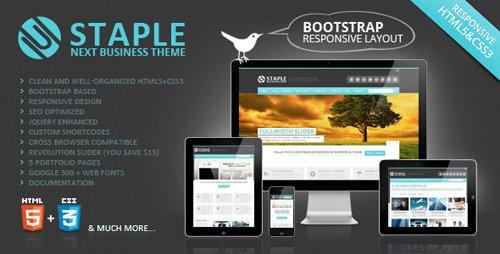 ThemeForest - Staple - Bootstrap Responsive Web Template