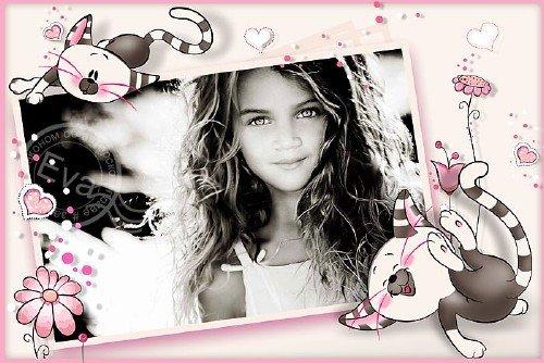 Детская рамка для фото - Розовое детство