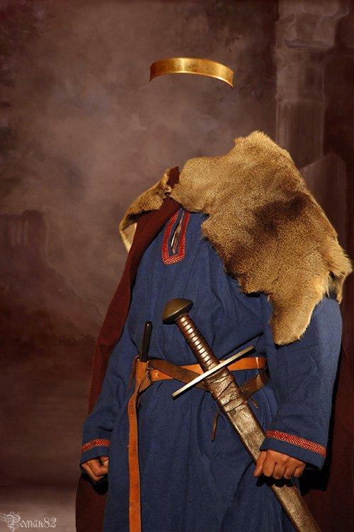 Шаблон для фотомонтажа - древний наряд