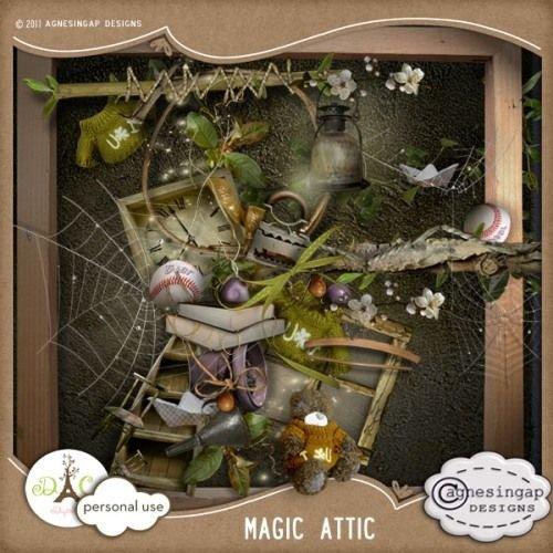 Загадочный детский скрап-набор - Волшебный Афинянин
