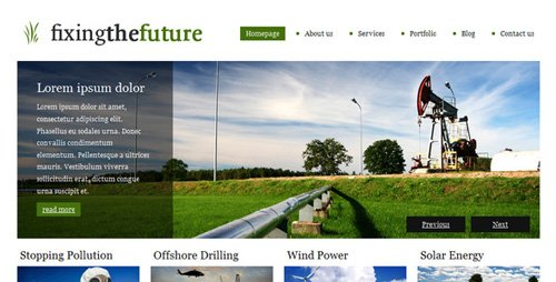 ThemeForest - Green Future | A clean, versatile, beautiful theme