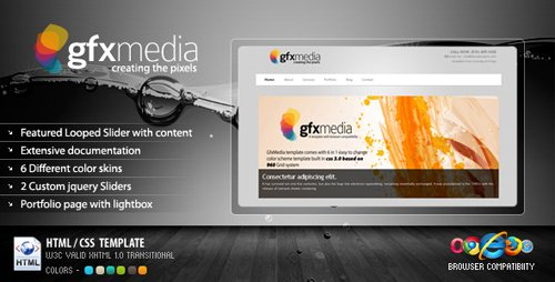 ThemeForest - GFXMedia - Business & Portfolio Template 6 in 1