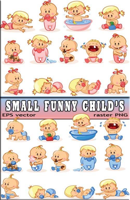Маленькие девчонки и мальчишки - сосут соску (tiff & eps)