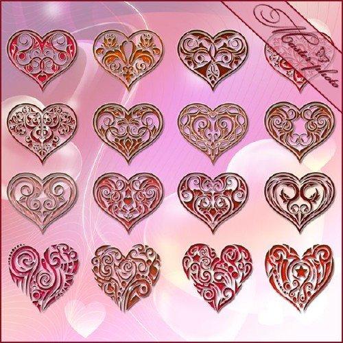 PSD исходник для фотошопа - Сердца