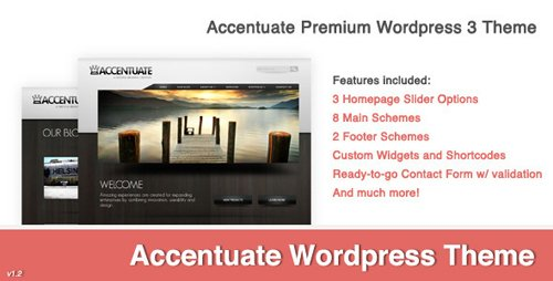 ThemeForest - Accentuate v1.2 - Premium Wordpress 3 Theme