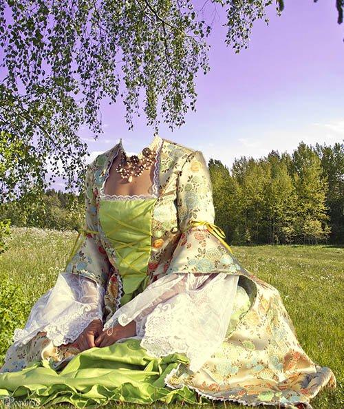 Шаблон для фотомонтажа - пикник
