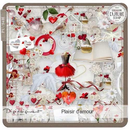 Романтический скрап-набор ко дню влюбленных - Блаженство любви