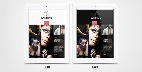 ThemeForest - Fashionista - Adaptive HTML Facebook Template