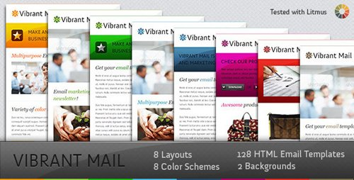 ThemeForest - Vibrant Mail - Colorful Email Template