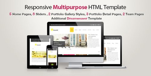 ThemeForest - Responsive HTML Template - Bound