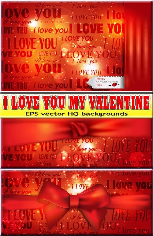 Яркие красные дизайны на празднование дня влюбленных (eps)
