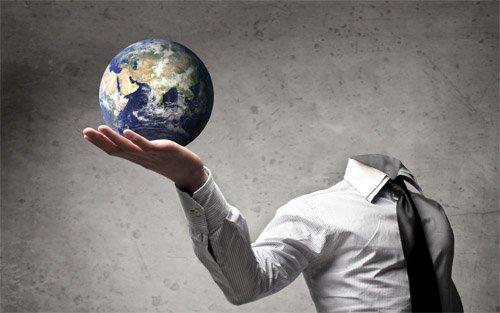 Шаблон для фотошопа - Земля на руке