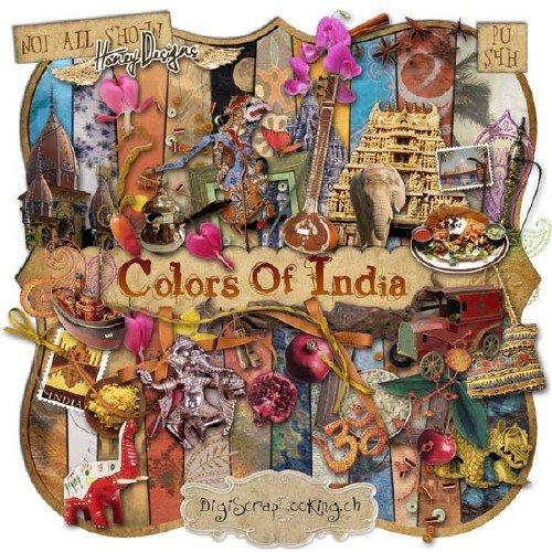 Экзотический скрап-набор - Цвета Индии
