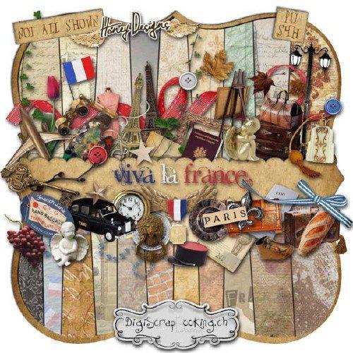Интересный скрап-набор - Да здравствует Франция