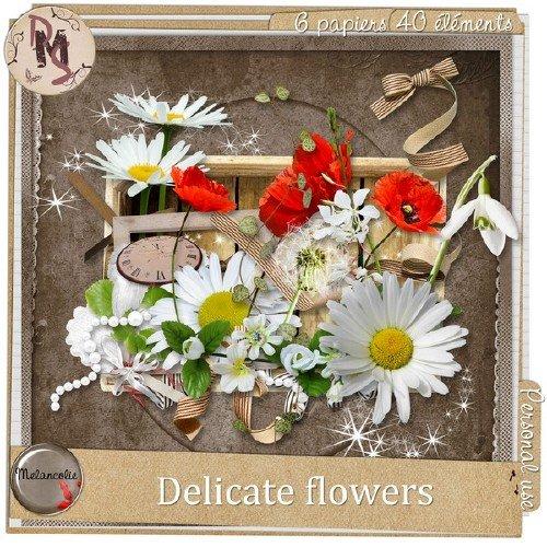 Цветочный скрап-набор - Очаровательные цветы