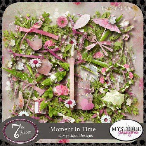 Цветочный скрап-набор - Момент во времени