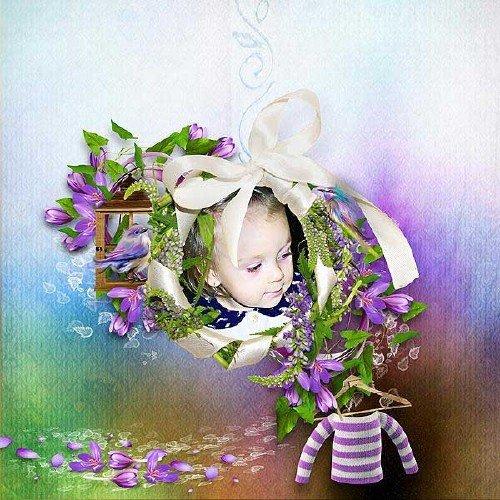 Цветочный скрап-набор - Пурпурные грёзы