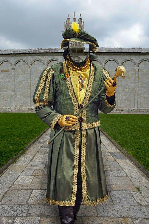 Карнавальный костюм - шаблон для фотошопа