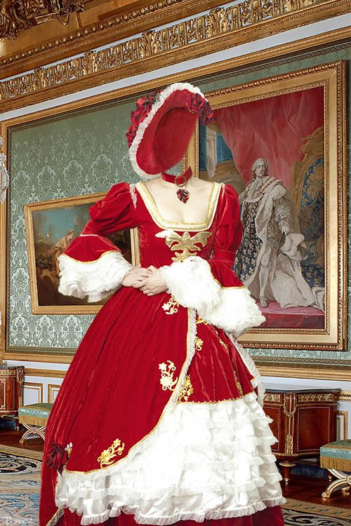 Шаблон для фотошопа - красивый женский костюм