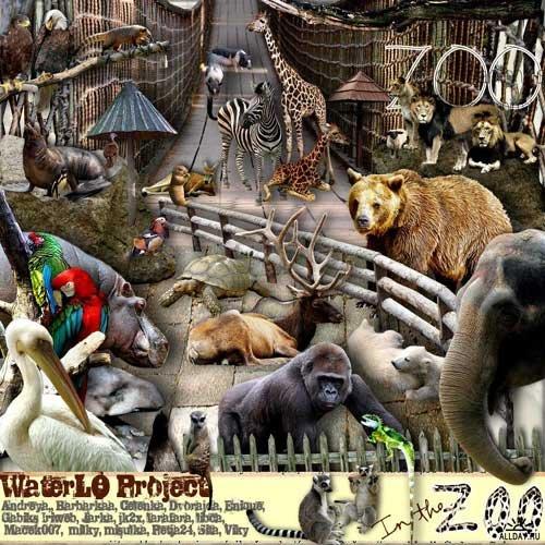 Симпатичный и оригинальный скрап-набор с животными - Зоопарк