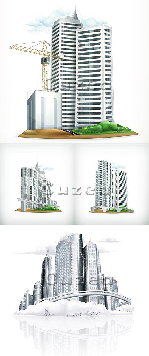Vector stock - Строительство зданий/  construction building