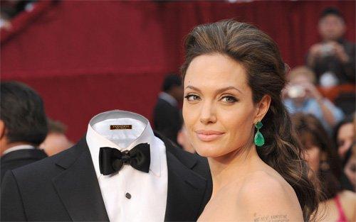 Шаблон для фото - с киноактрисой Джоли