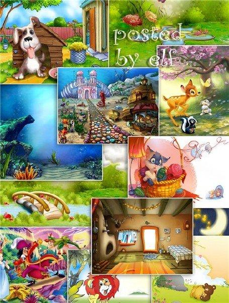 Разнообразные детские фоны для Фотошоп
