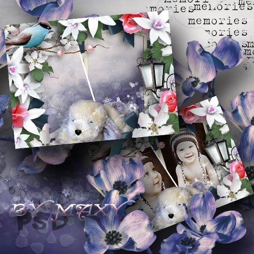Детская фоторамка с цветами - Мой Барбос