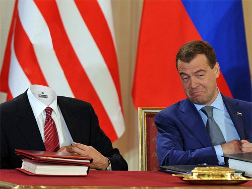 Шаблон мужской - На встрече с президентом России