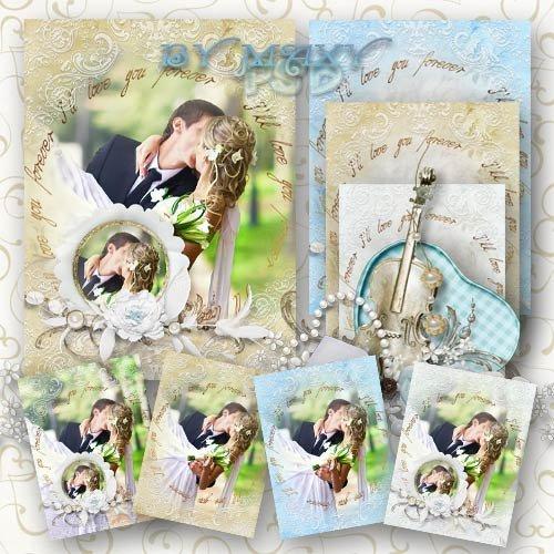 Рамка для красивых свадебных фото - И сердце от волнения шумит
