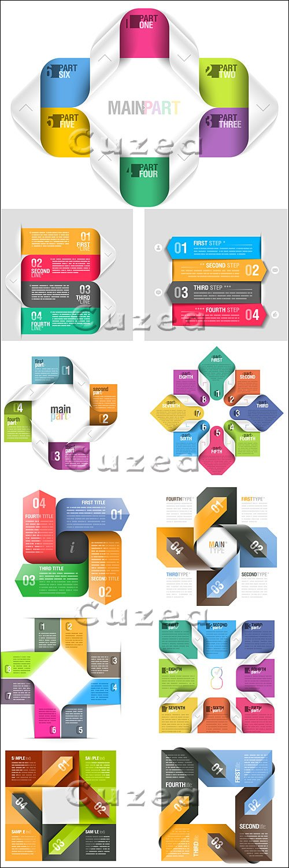 Элементы инфографики, часть 22/ Infographics design template, part 22