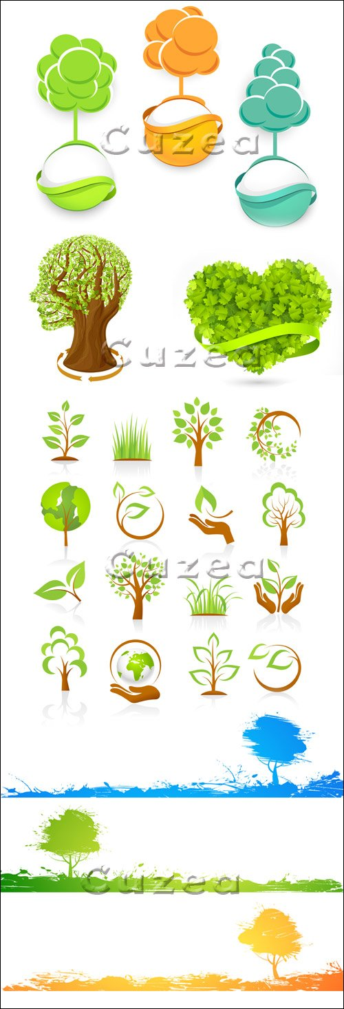 Иконки природы в векторе/ Set of nature icons in vector