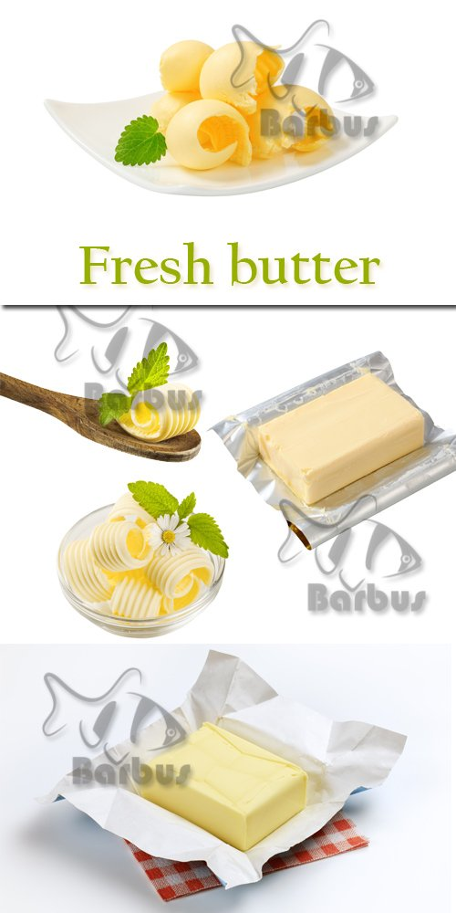 Fresh butter / Свежее масло - photo stock
